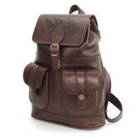 """Коричневый кожаный рюкзак  """"Ваниль"""""""