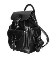 """Черный кожаный рюкзак  """"Моника"""""""