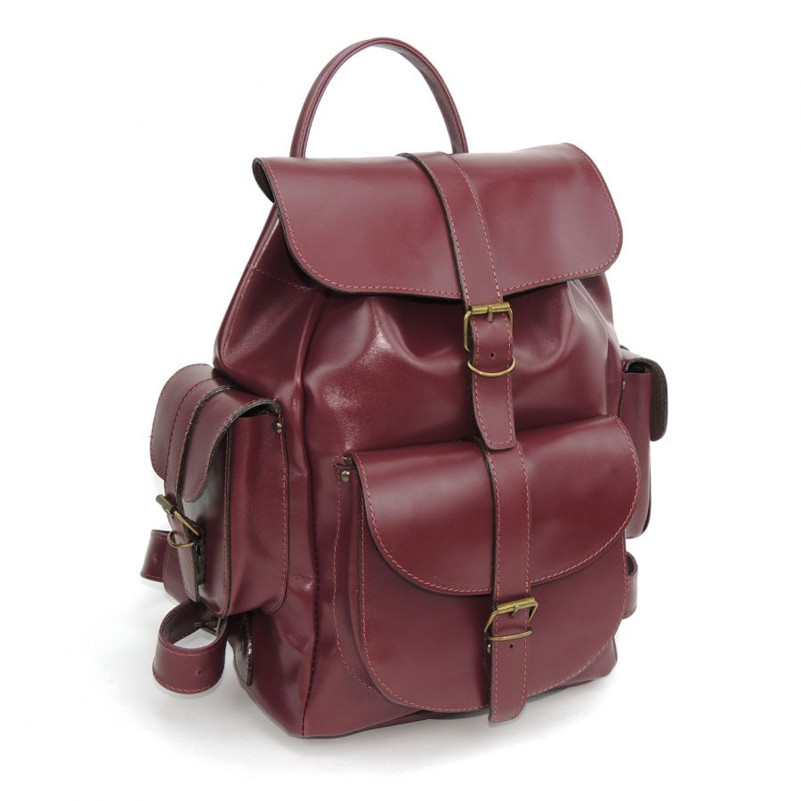 """Бордовый кожаный рюкзак  """"Муза"""""""