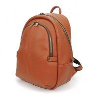 """Оранжевый кожаный рюкзак  """"Каприччо"""""""