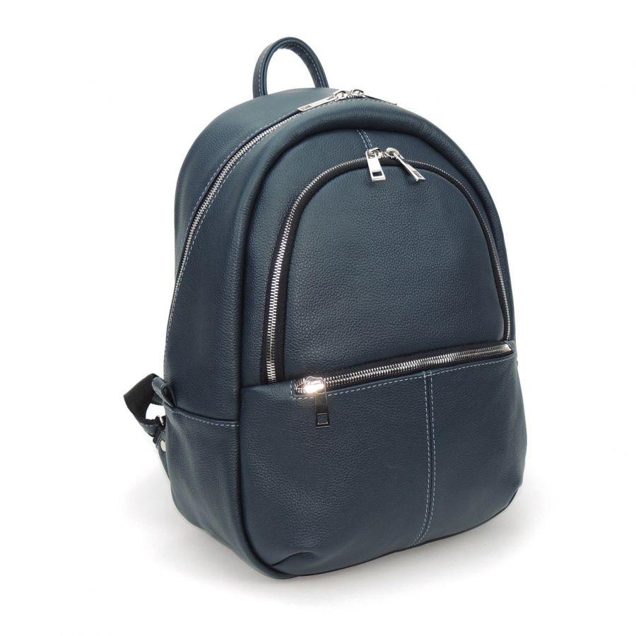 """Синий кожаный рюкзак  """"Габи"""""""
