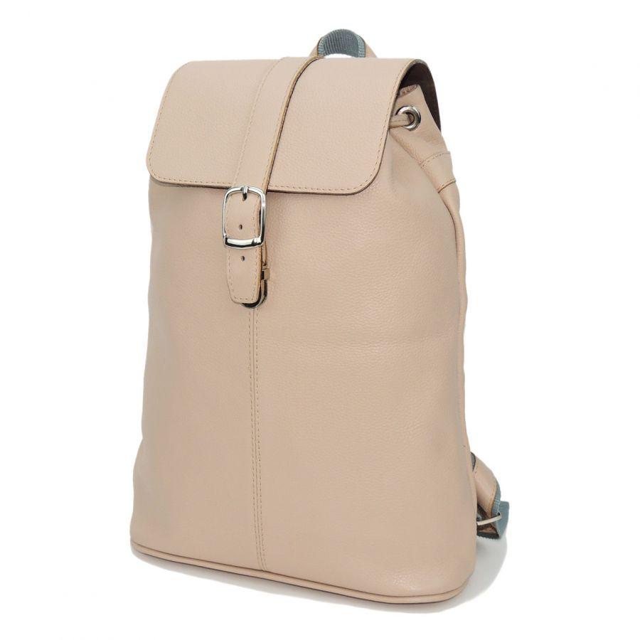 """Бежевый кожаный рюкзак женский  """"Анжелика"""""""