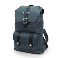 "Синий кожаный рюкзак  ""Вирджи"""