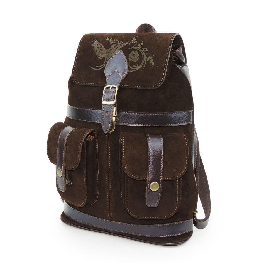 """Замшевый коричневый рюкзак  """"Шоколадный бархат"""""""