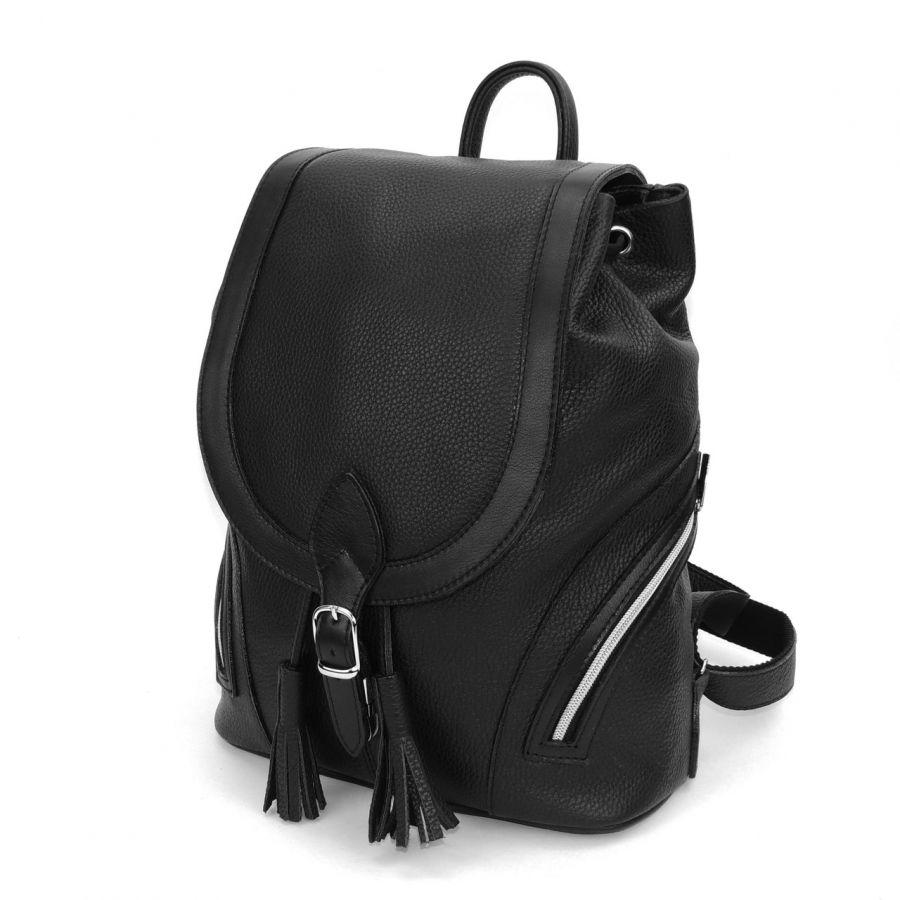 """Рюкзак кожаный черный  """"Валенсия"""""""
