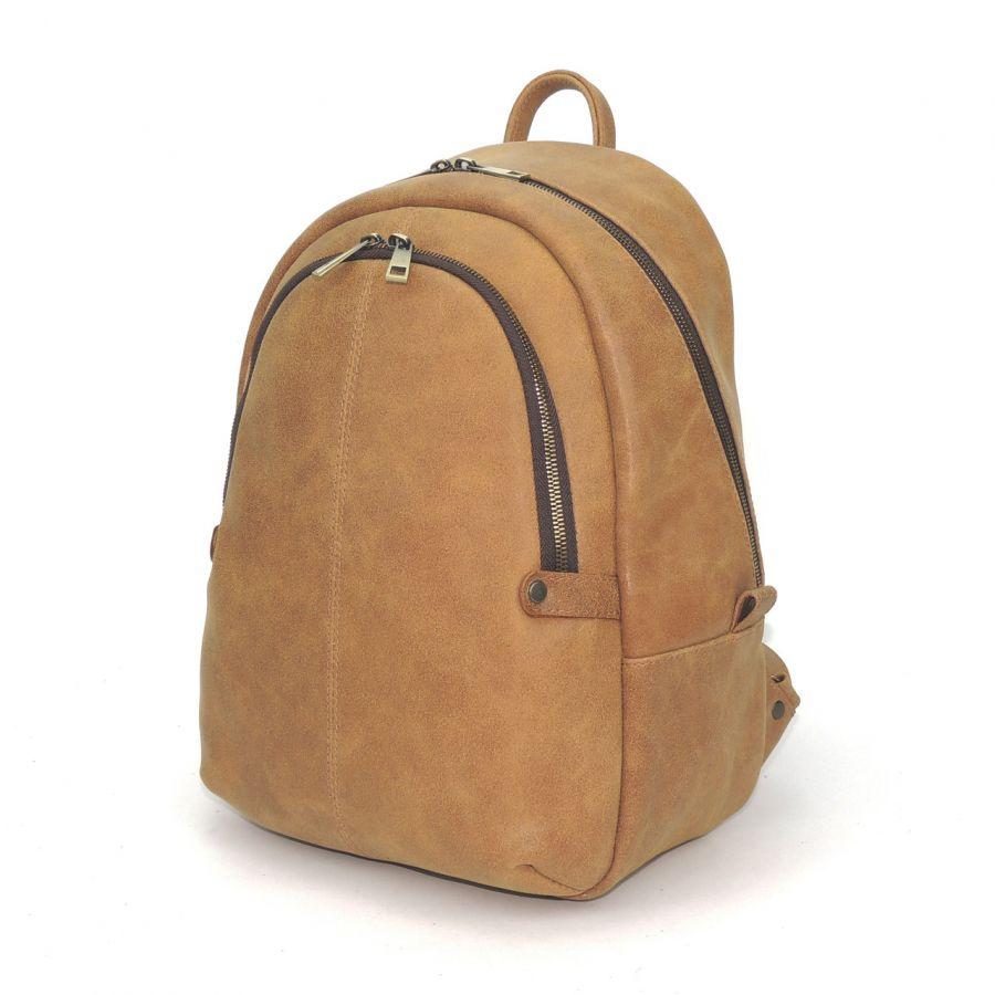 "Бежевый кожаный рюкзак  ""Аурика"""