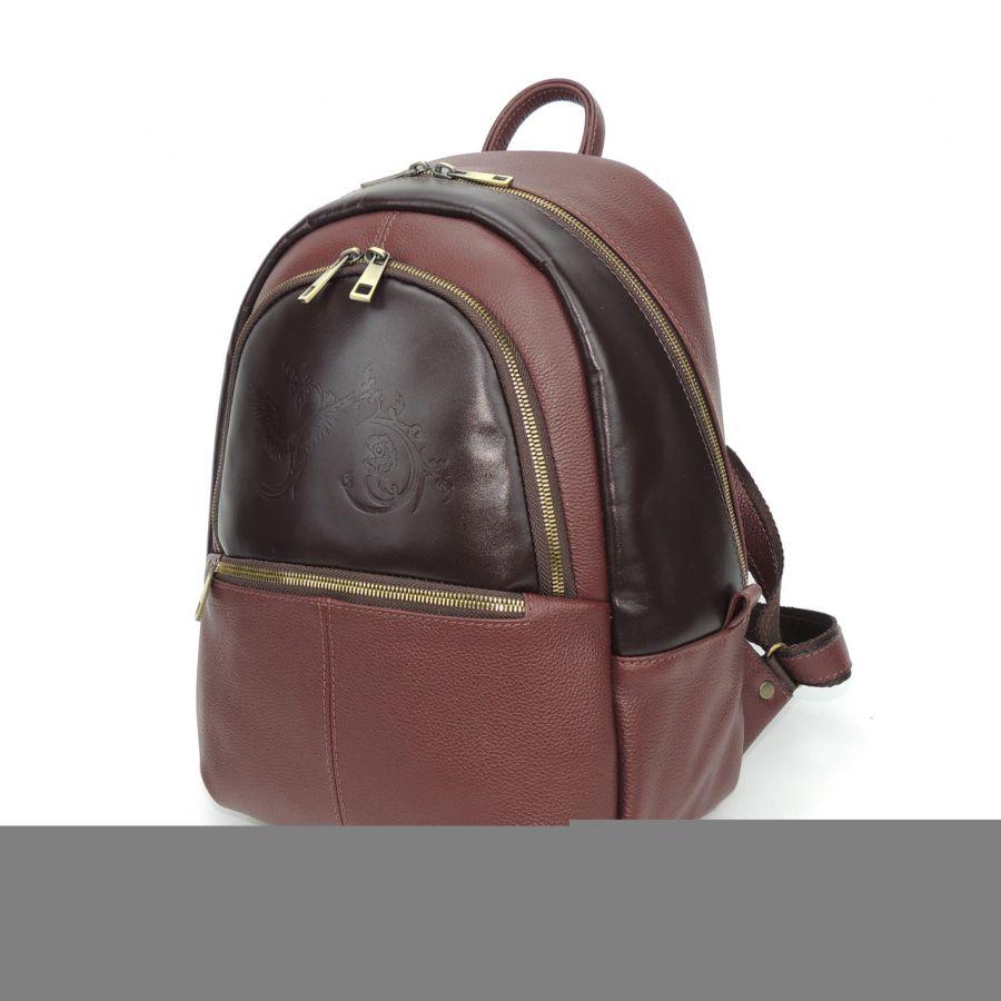 """Бордовый кожаный рюкзак  """"Мелания"""""""
