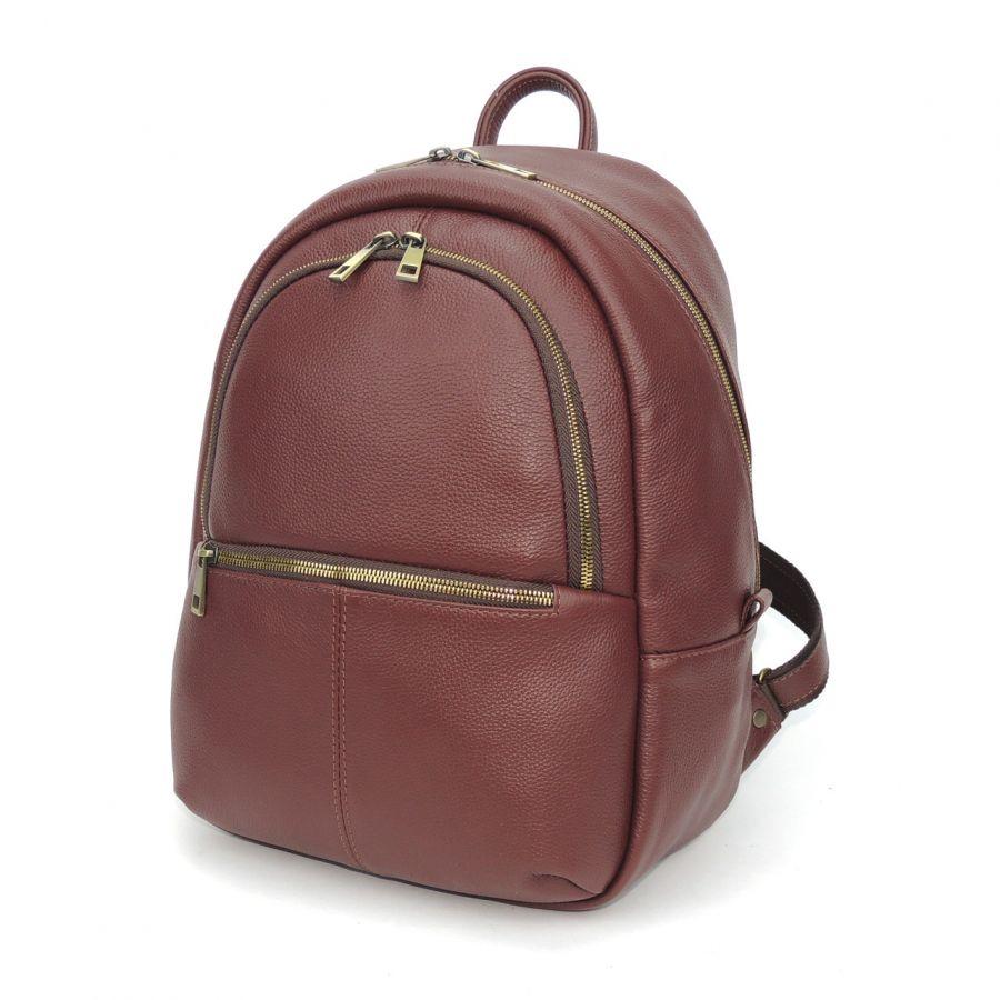"""Бордовый кожаный рюкзак  """"Алика"""""""