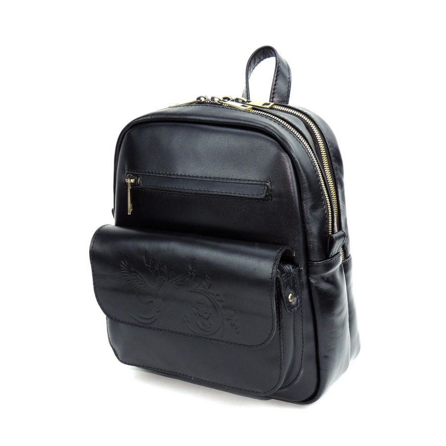 """Черный кожаный рюкзак  """"Магдалина"""""""