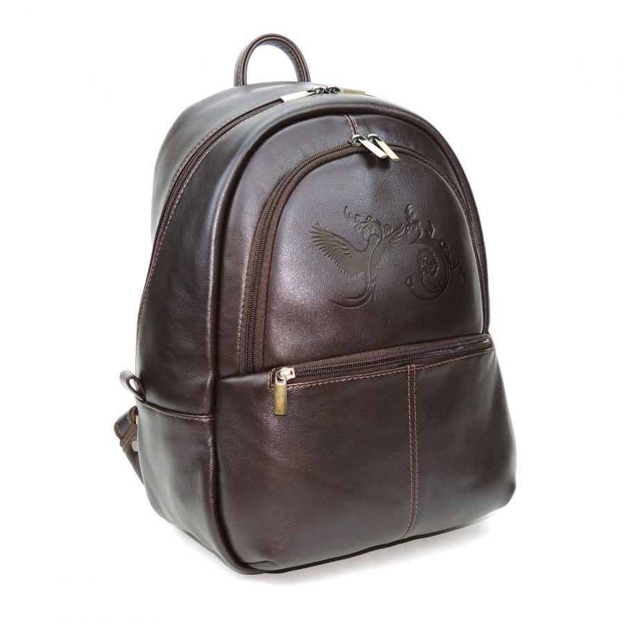 """Коричневый кожаный рюкзак  """"Карина"""""""