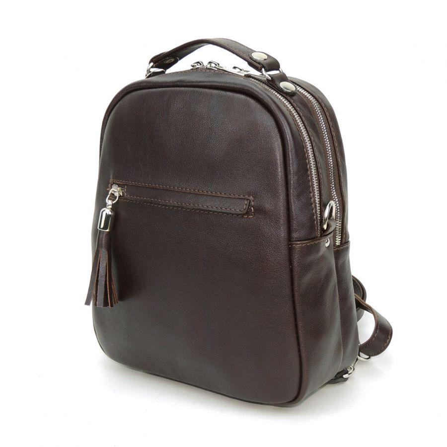 """Сумка рюкзак кожаная женская коричневая  """"Элейн"""""""
