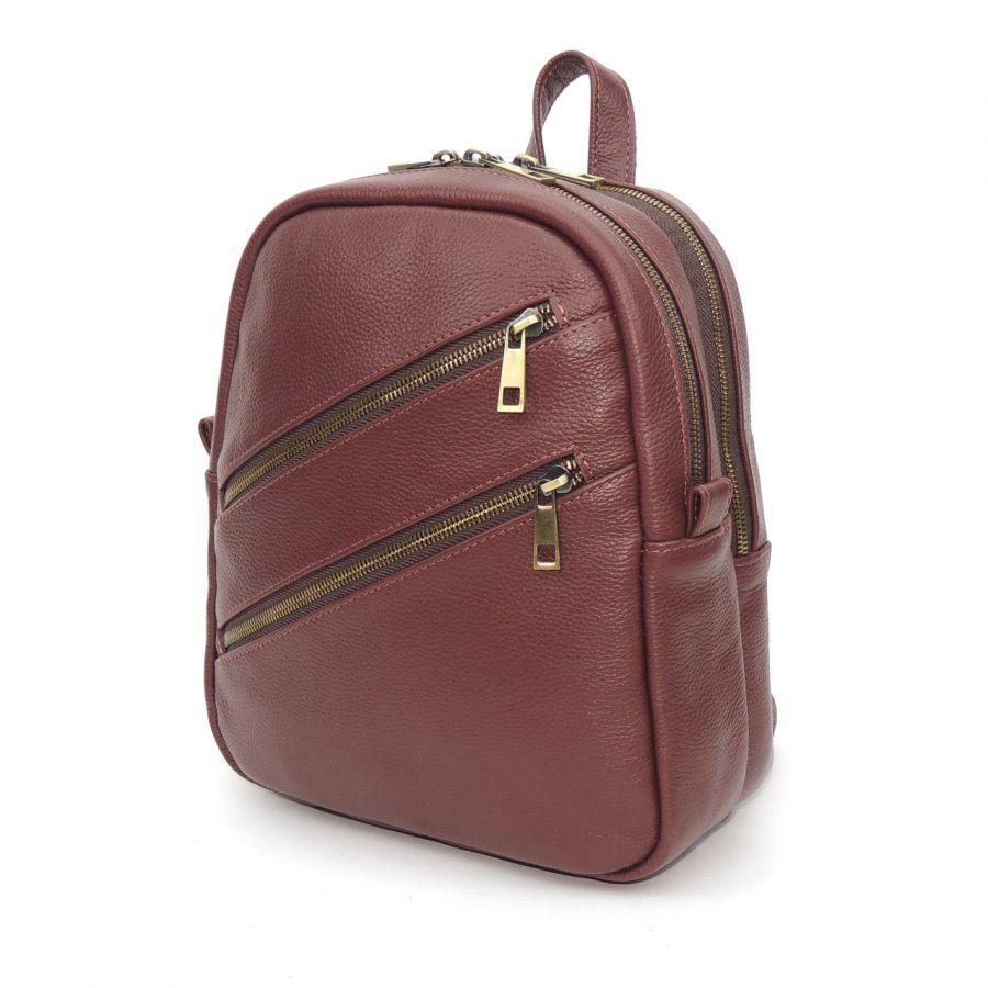 """Бордовый кожаный рюкзак  """"Розмари"""""""