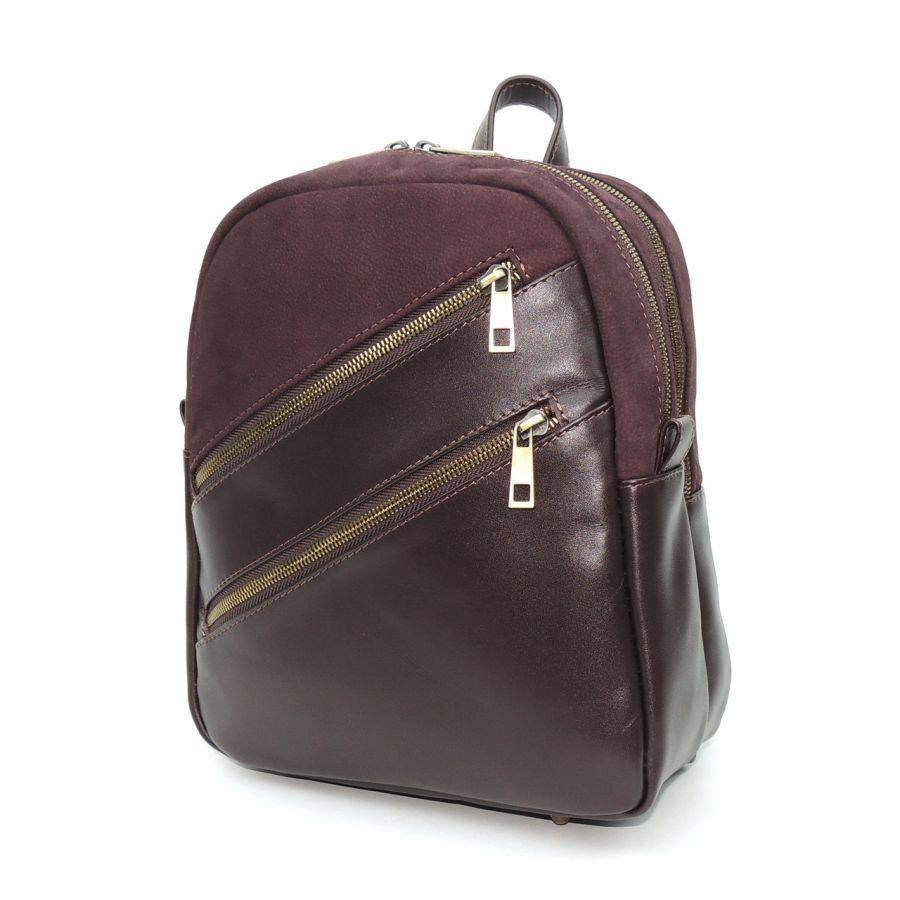 """Бордовый кожаный рюкзак  """"Оттавия"""""""