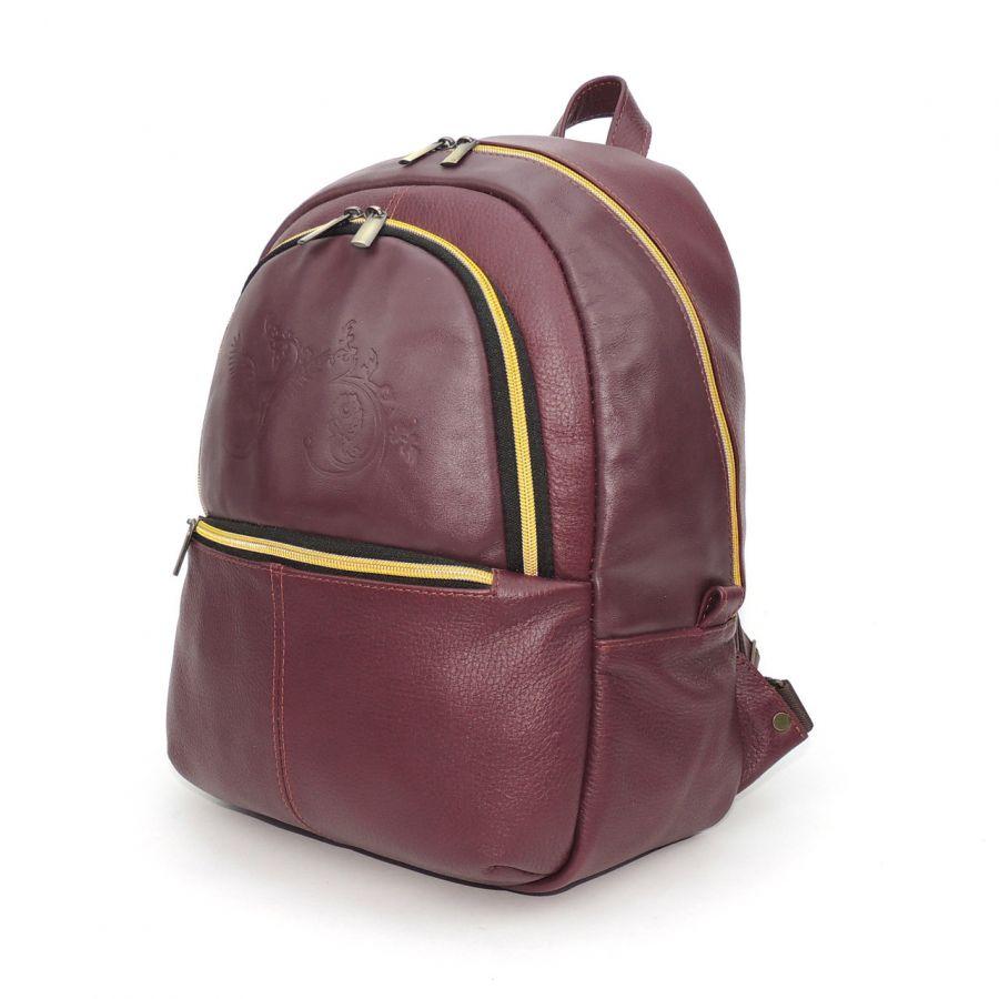 """Бордовый кожаный рюкзак  """"Клён"""""""