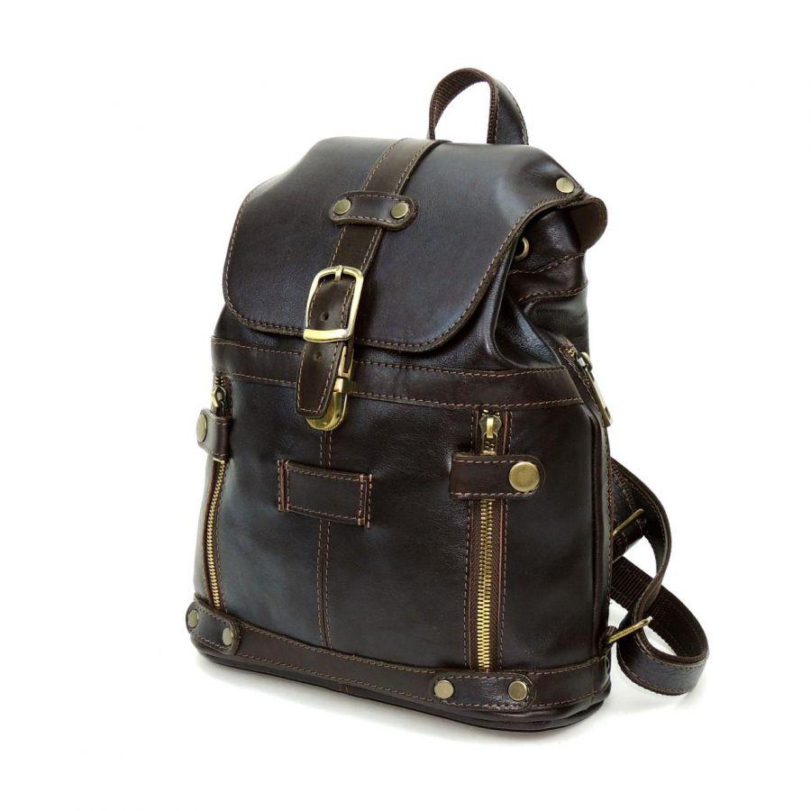 """Коричневый кожаный рюкзак  """"Алия"""""""