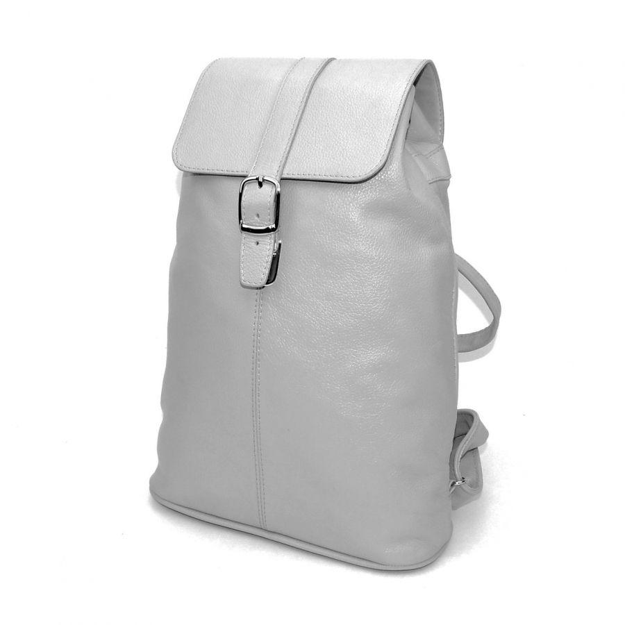 """Серый кожаный рюкзак  """"Титания"""""""