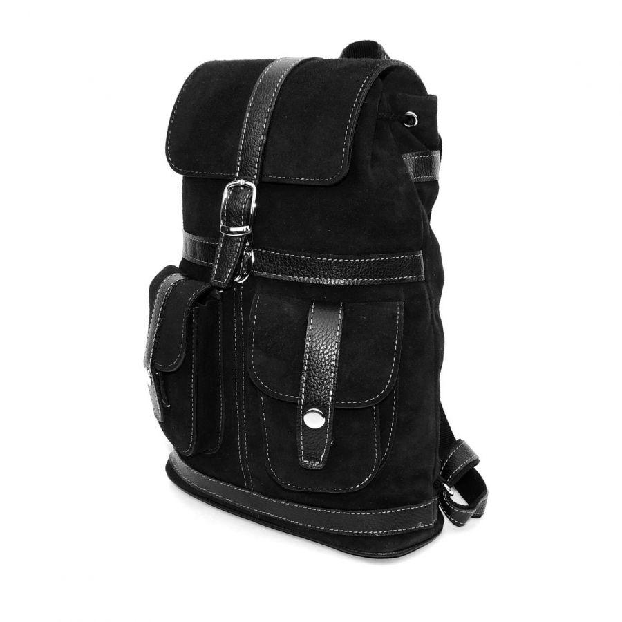 """Черный замшевый рюкзак  """"Велюр"""""""