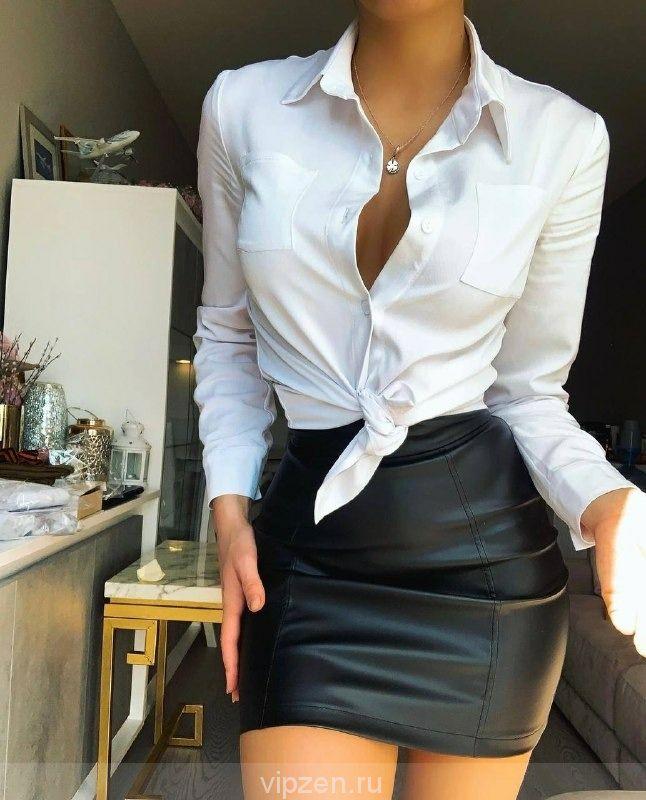 Шикарная белая рубашка с длинным рукавом