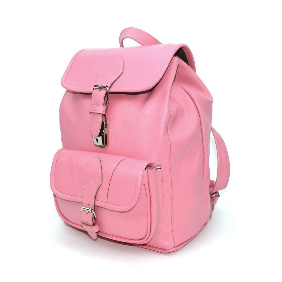 """Розовый кожаный рюкзак  """"Рейна"""""""