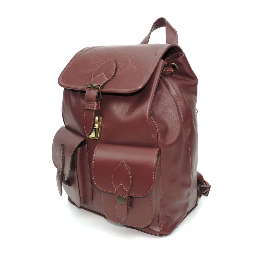 """Коричневый кожаный рюкзак  """"Рокайо"""""""