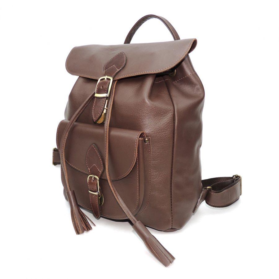 """Коричневый кожаный рюкзак  """"Сендерси"""""""