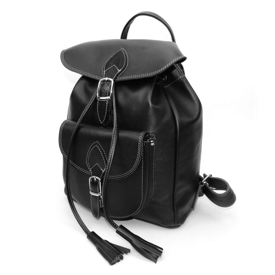 """Рюкзак кожаный черный  """"Лоретта"""""""