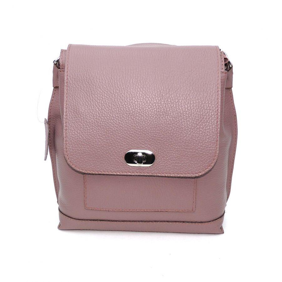 """Лиловая кожаная женская сумка рюкзак  """"Айрис"""""""