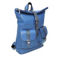"""Голубой кожаный рюкзак  """"Дивайн"""""""