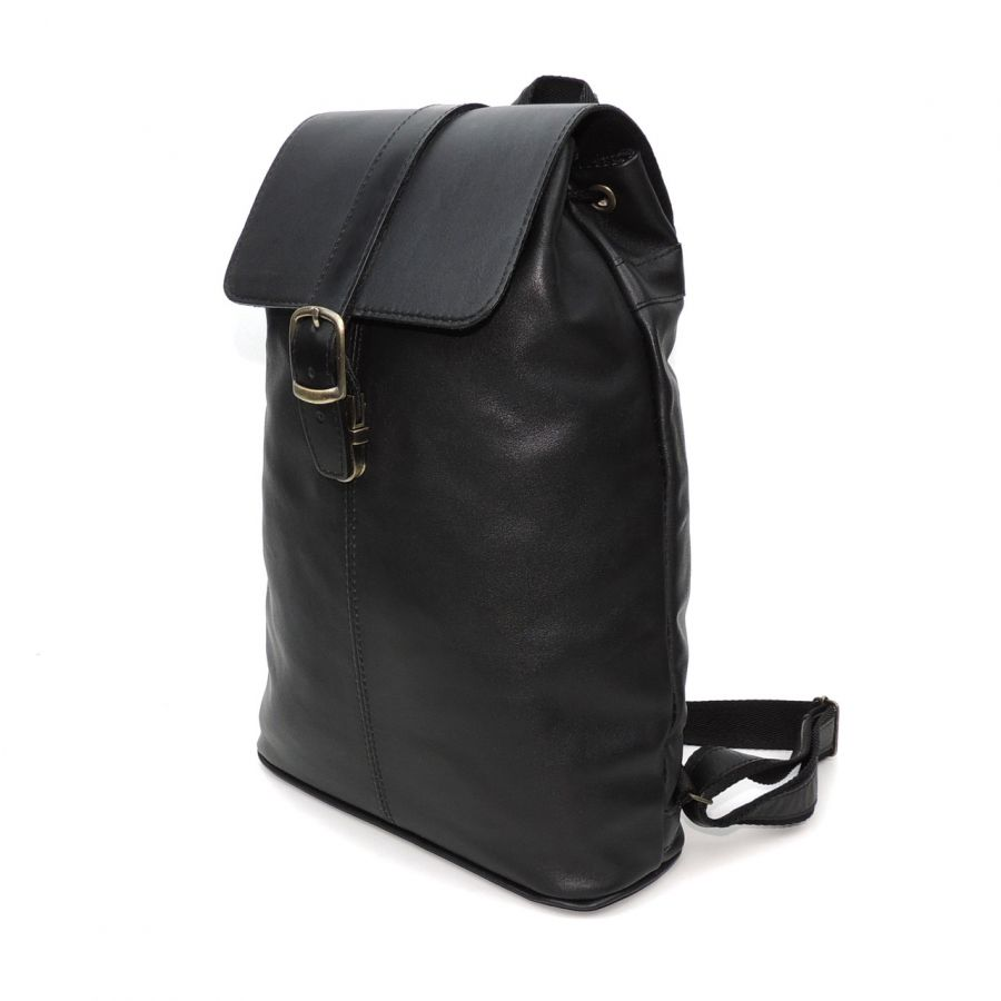 """Черный кожаный рюкзак  """"Ника"""""""