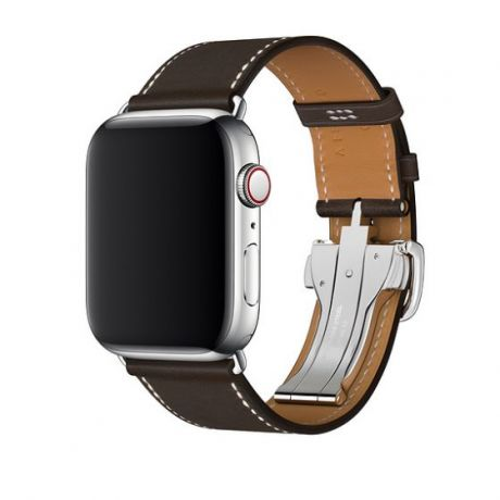 Ремешок Apple Watch Hermès 44mm Leather Single Tour Deployment Buckle