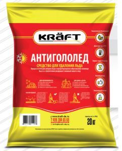 Антигололед KRAFT мешок 5 кг. - все для сада, дома и огорода!