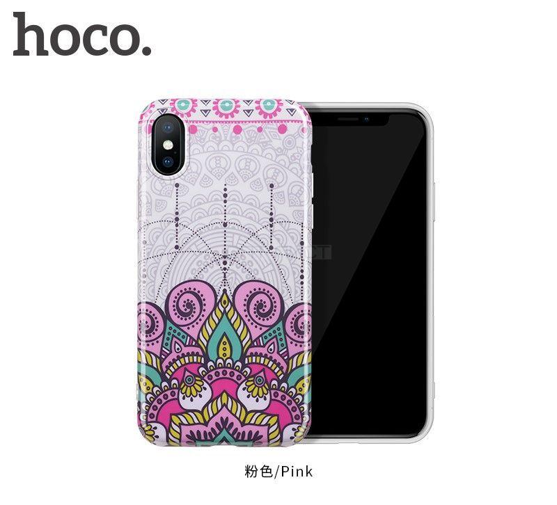 Защитный чехол HOCO Doren series для iPhoneX, розовый