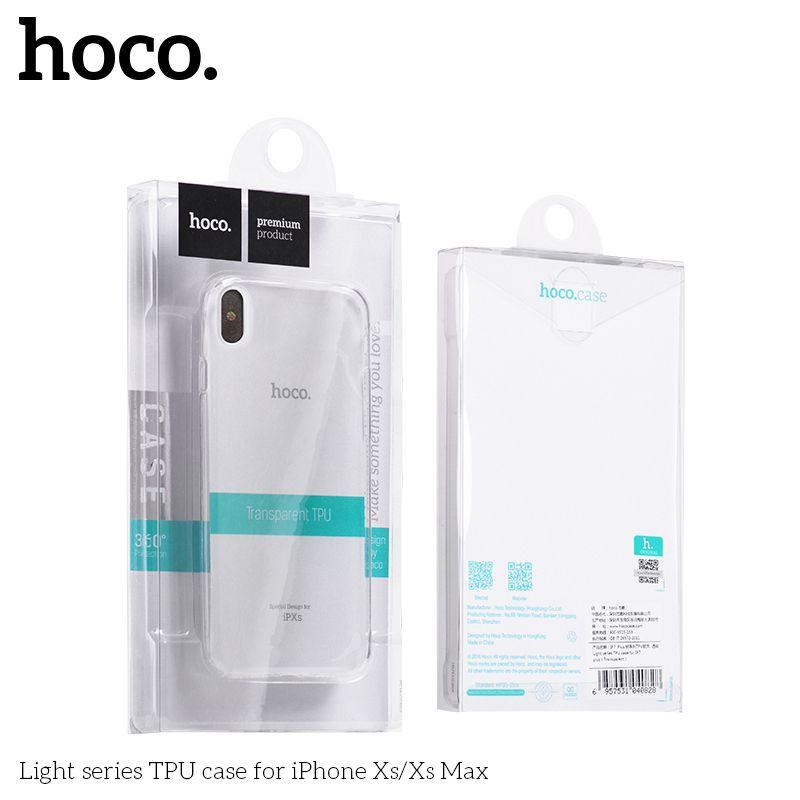 Защитный чехол HOCO Light series для iPhoneX, черный полиуретан