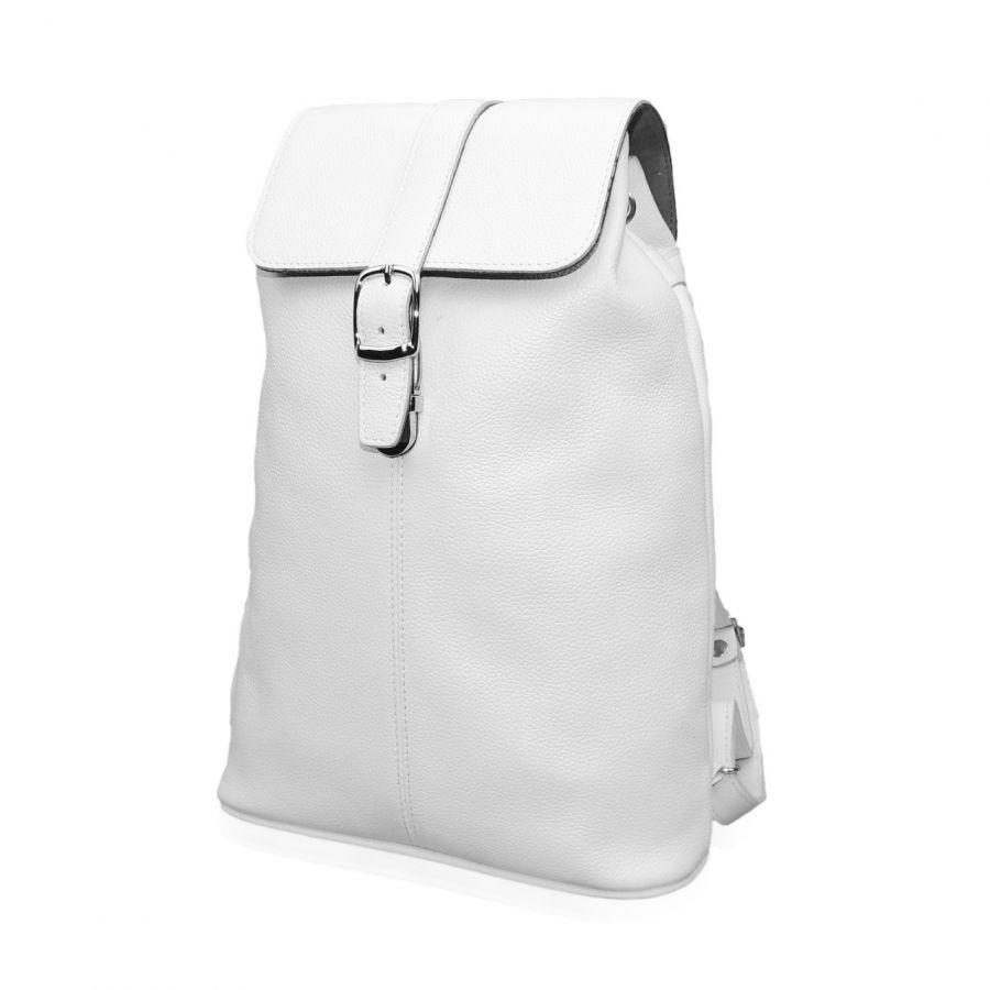 """Белый кожаный рюкзак  """"Ева"""""""