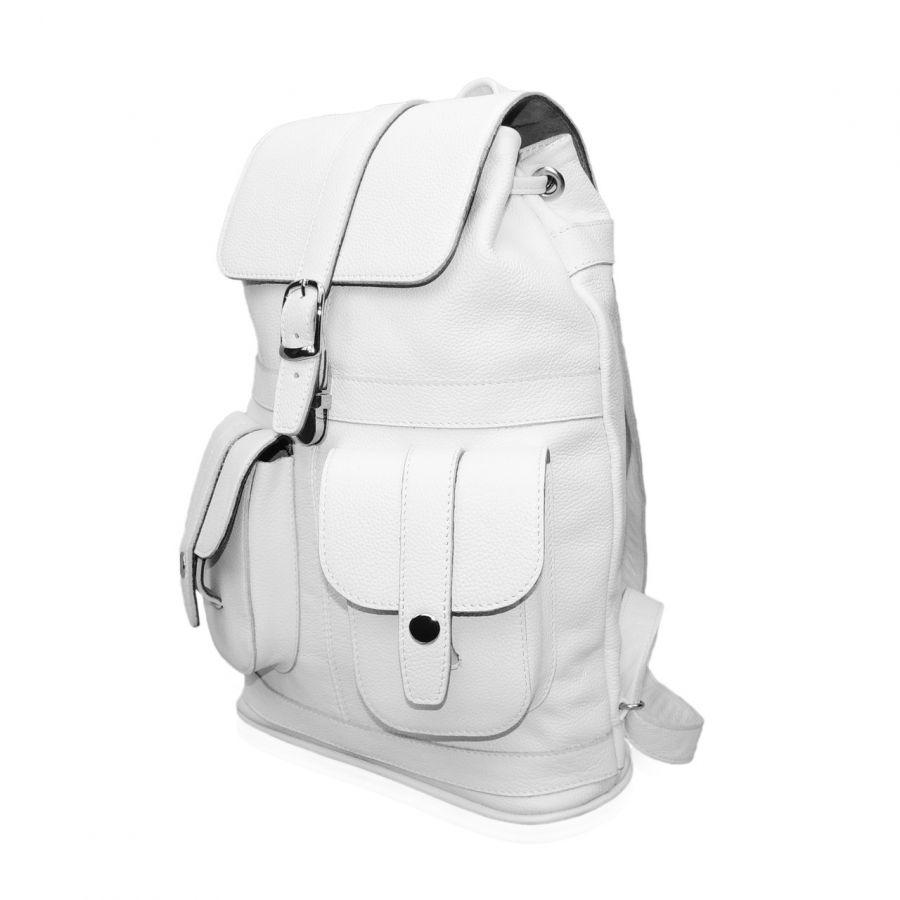 """Кожаный рюкзак белый женский  """"Пломбир"""""""