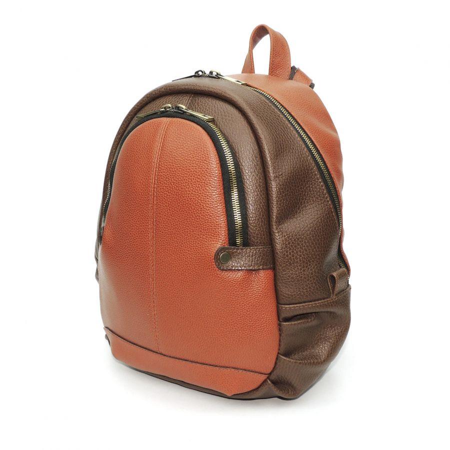 """Рыжий кожаный рюкзак  """"Симона"""""""