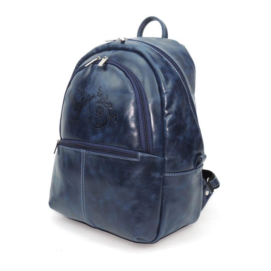 """Синий кожаный рюкзак  """"Арабская ночь"""""""