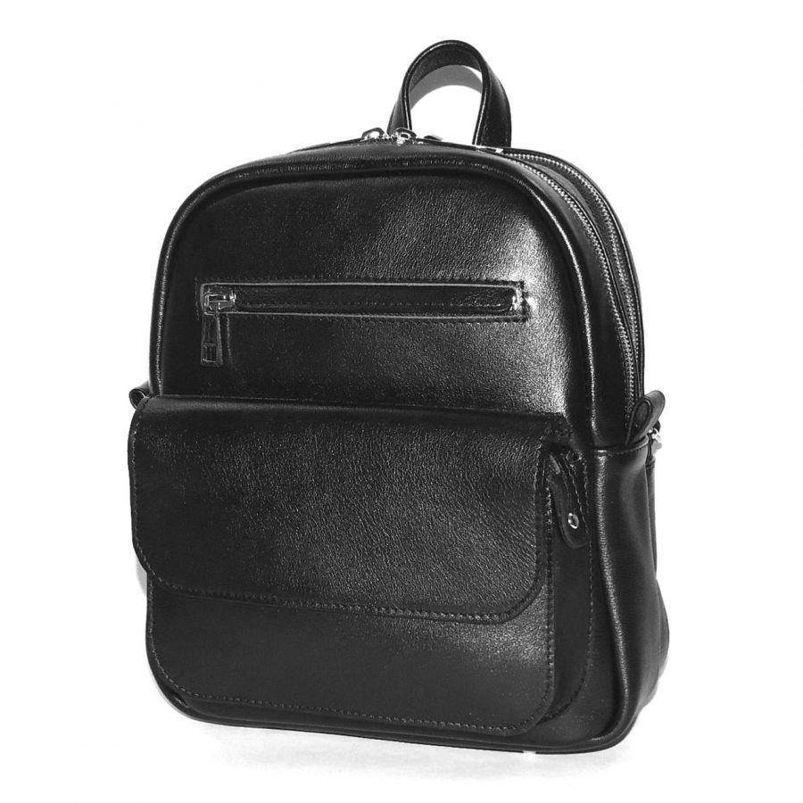 """Черный кожаный рюкзак  """"Таира"""""""