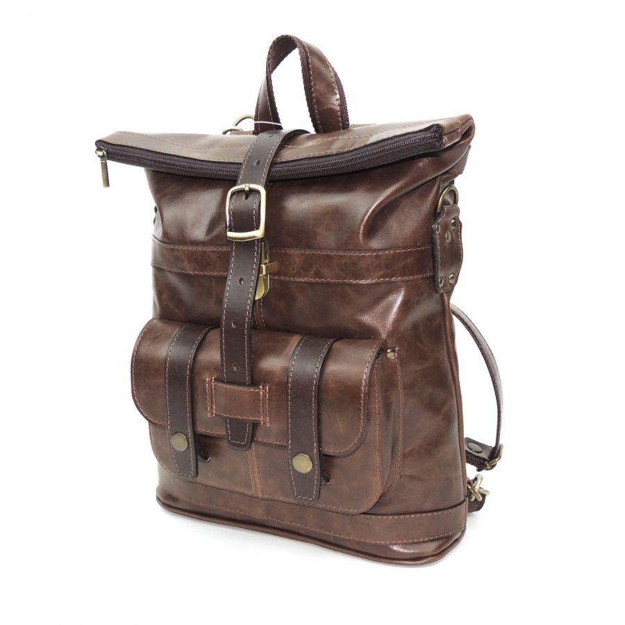 """Кожаная сумка-рюкзак  """"Рикарда"""""""