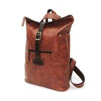 "Рыжая кожаная сумка-рюкзак  ""Кэссиа"""