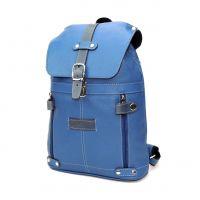 """Кожаный рюкзак женский голубой  """"Незабудка"""""""