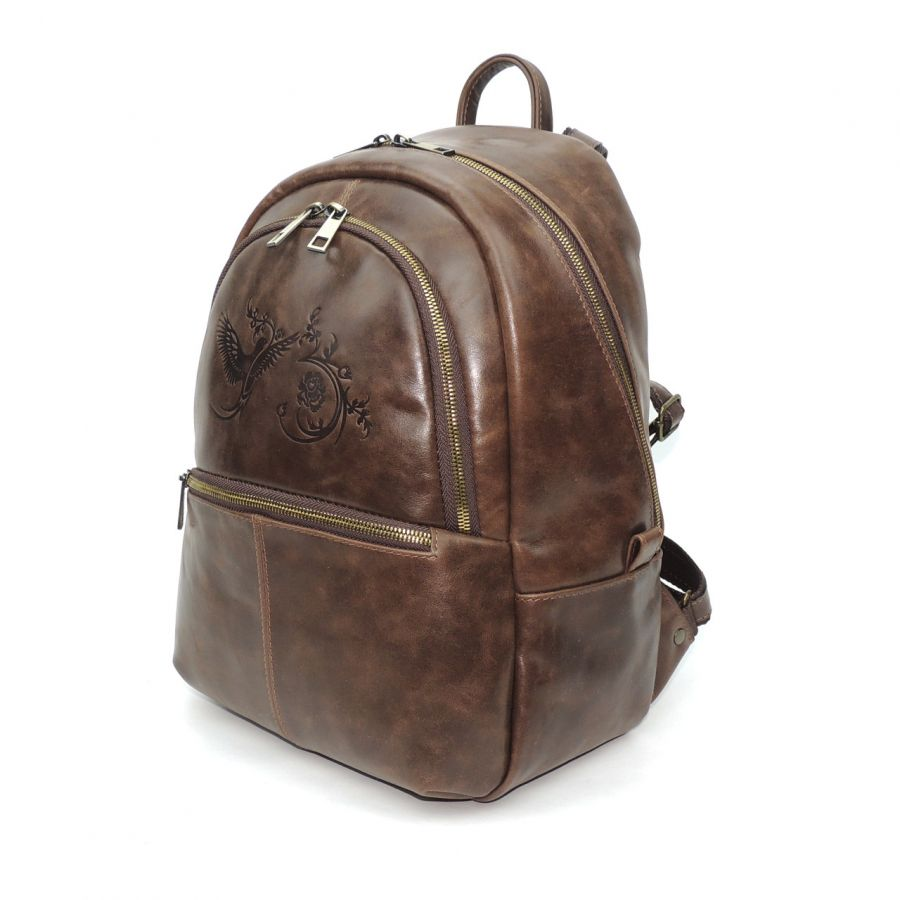 """Коричневый кожаный рюкзак  """"Эша"""""""