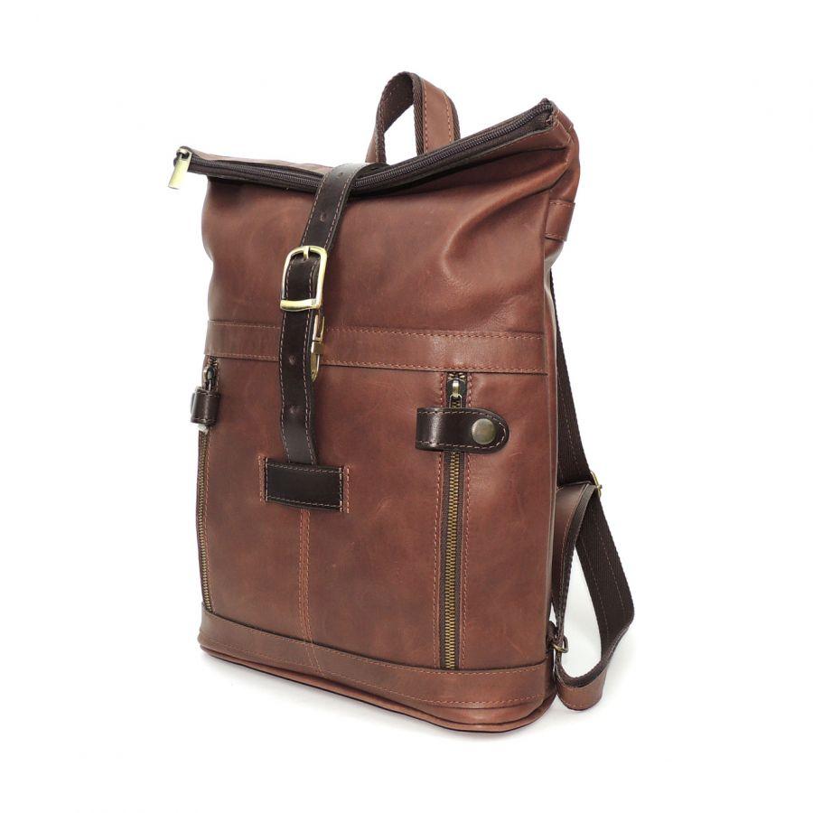 """Коричневый кожаный рюкзак  """"Венлинг"""""""