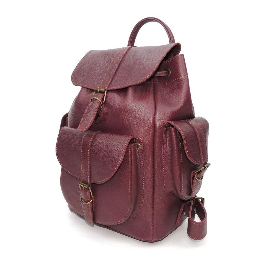 """Бордовый кожаный рюкзак  """"Сандра"""""""