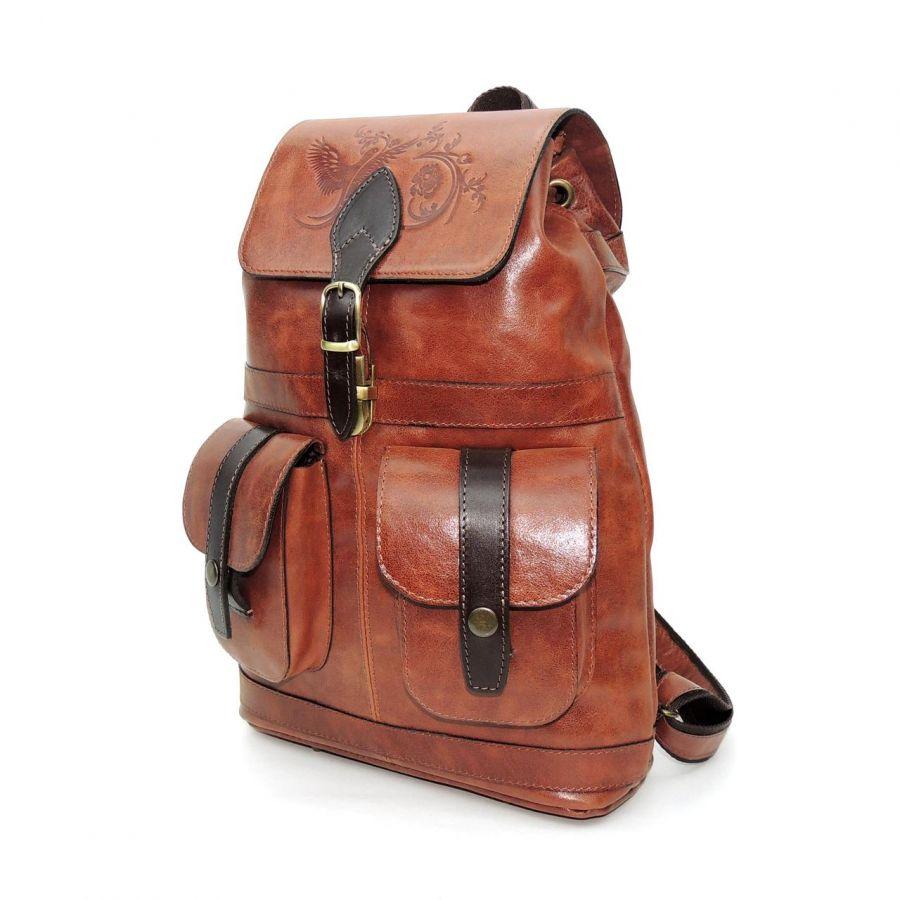 """Рыжий кожаный рюкзак  """"Далия"""""""