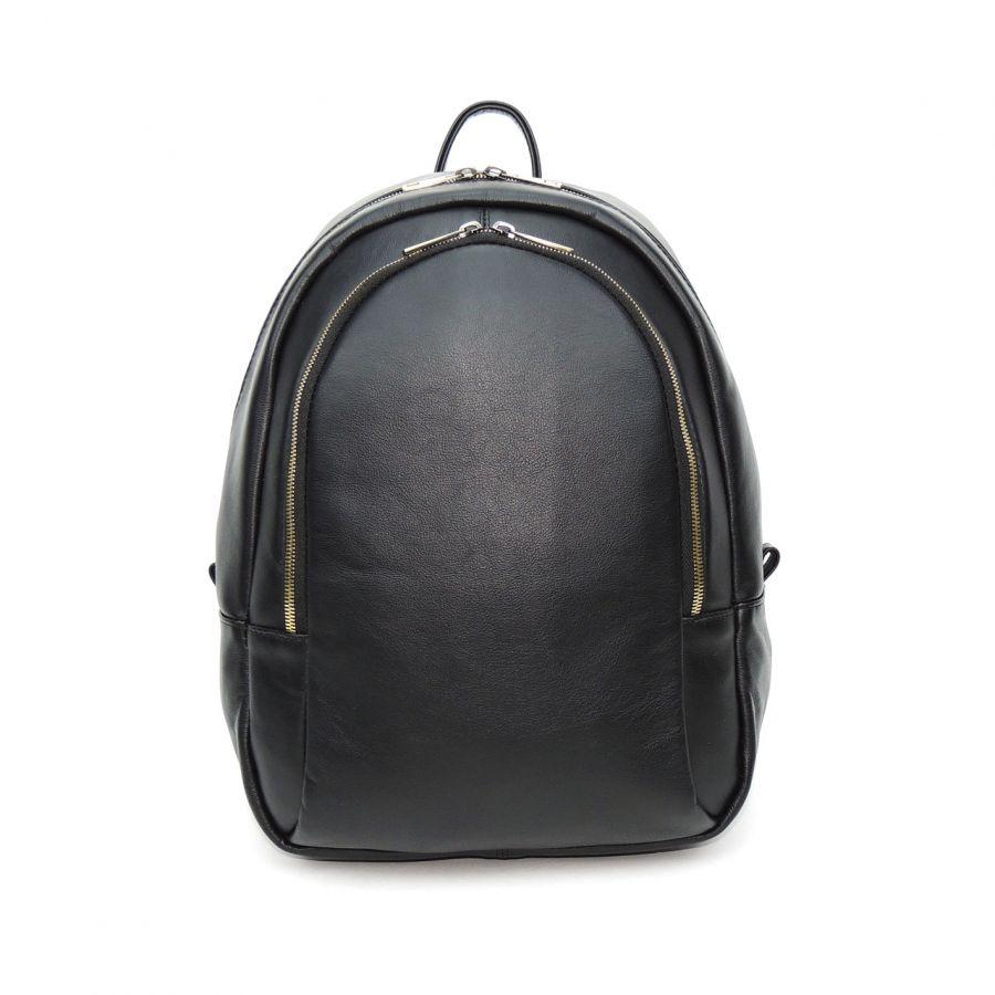 """Черный кожаный рюкзак  """"Вэнна"""""""