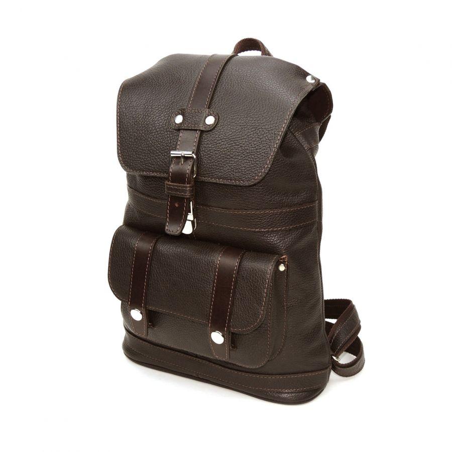 """Кожаный рюкзак коричневый  """"Шоколад"""""""