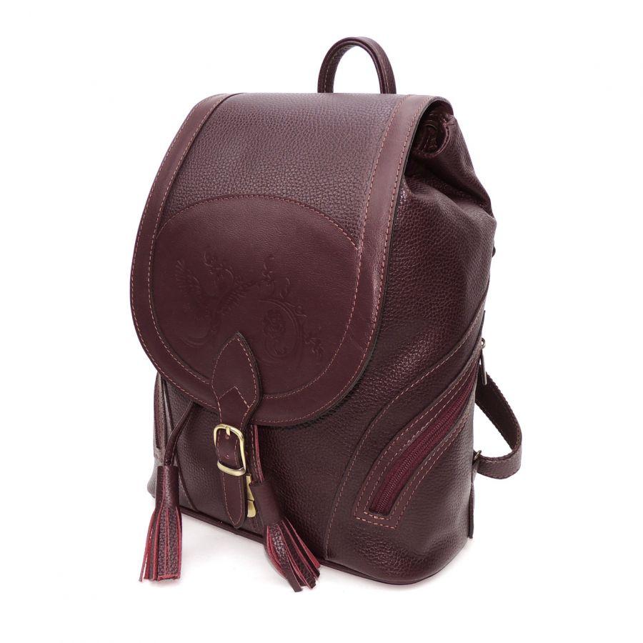 """Бордовый кожаный рюкзак  """"Лерия"""""""