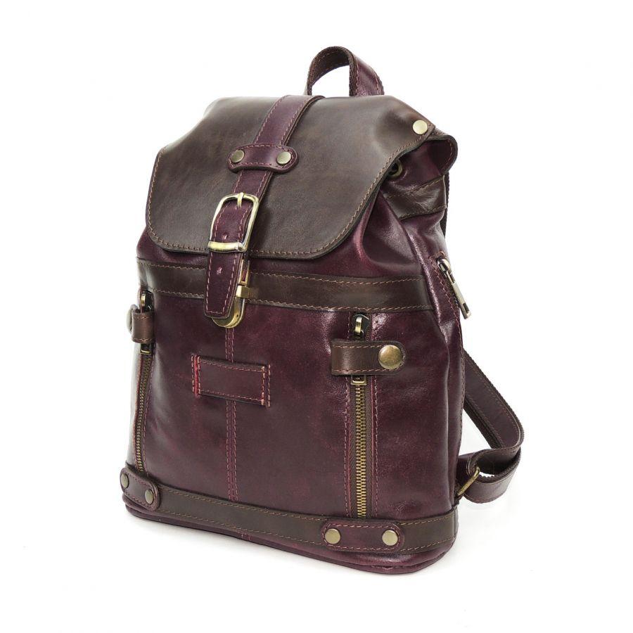 """Кожаный рюкзак комбинированный  """"Лойс"""""""