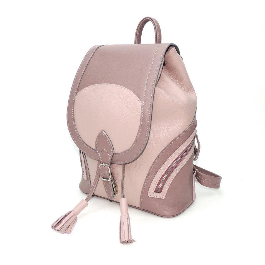 """Лилово бордовый кожаный рюкзак  """"Алетта"""""""